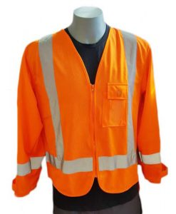 Orange long sleeved vest
