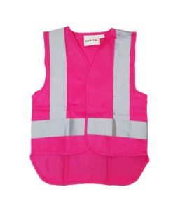 pink yellow zip vest
