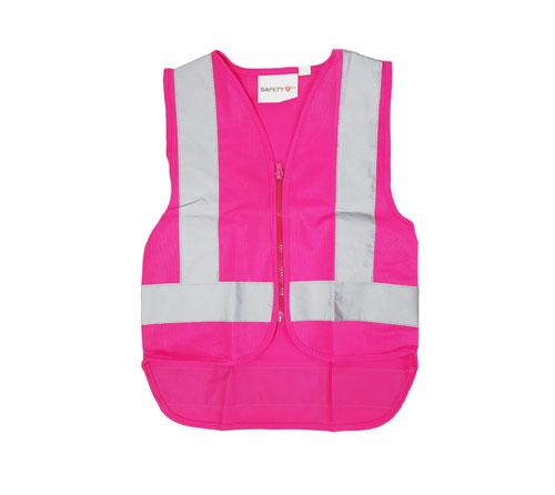 pink zip vest