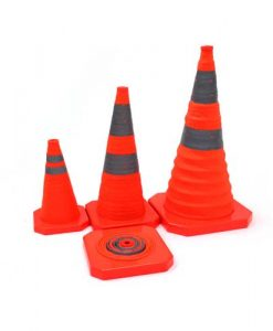 Red popup cones