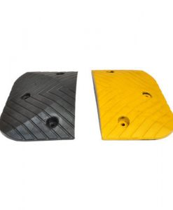 road speed humps black yellow