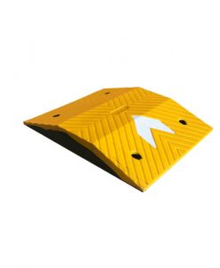 yellow road speed humps