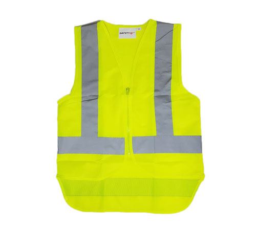 yellow zip vest