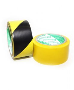 black yellow floor tape