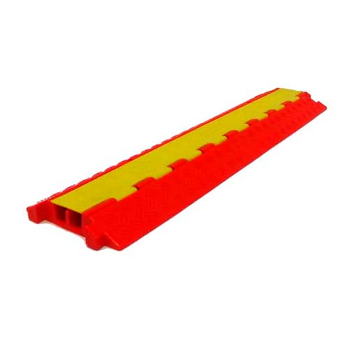 cable protector red and yellow