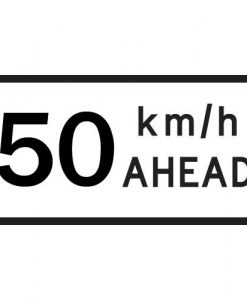 50Km Speed Ahead signs