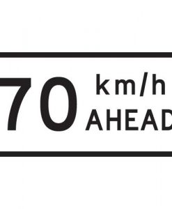 70Km Speed Ahead Signs