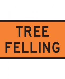 tree felling signs