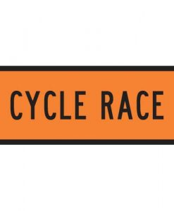 cycle race signs