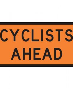 cyclists ahead signs