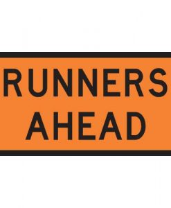 runners ahead signs
