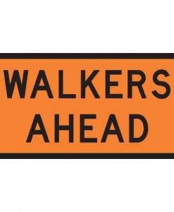 walkers ahead signs