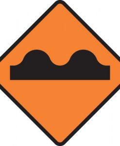 Road uneven surface signs