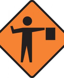 Road flagman signs
