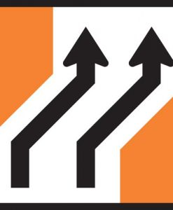 Road Lane Shift right Signs