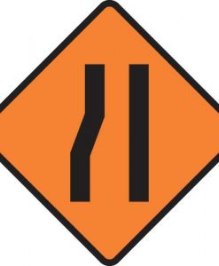 Road Lane narrows Signs