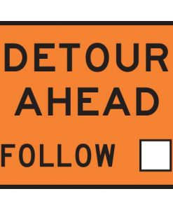 detour ahead follow Signs