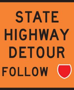 state highway detour Signs