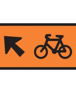 non motorised user cyclist direction indicator straight ahead