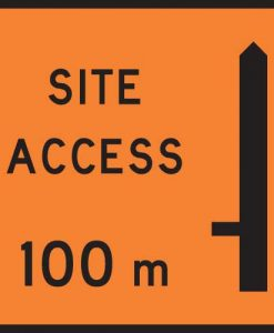 site access 100m signs