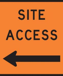 site access left signs