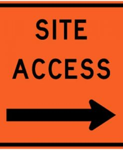 site access right signs