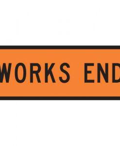 works end sign