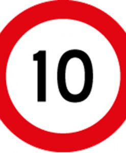 10KM Speed Limit Signs