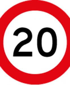 20KM Speed Limit Signs