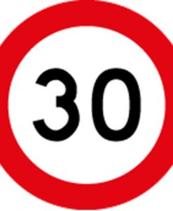 30KM Speed Limit Signs