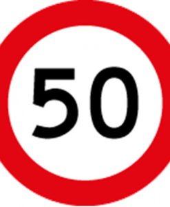 50KM Speed Limit Signs