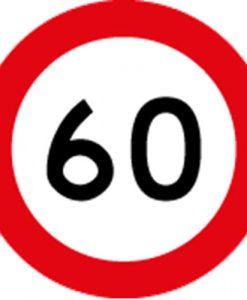 60KM Speed Limit Signs