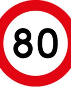 80KM Speed Limit Signs