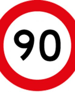 90KM Road Speed Limit Signs