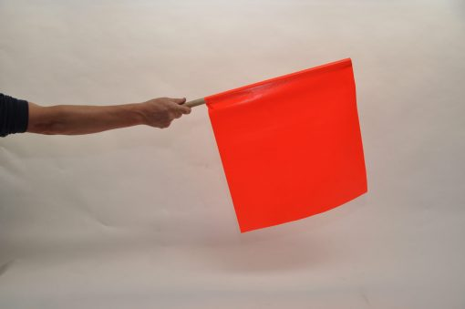 Road small stop flag