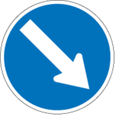 Keep Right signs