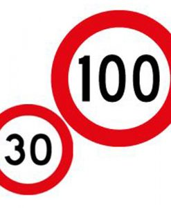 30 100 speed limit signs