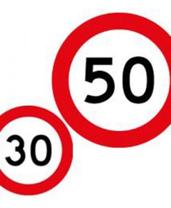 30 50 speed limit signs
