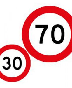30 70 speed limit signs