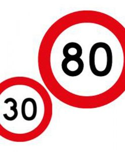 30 80 speed limit signs