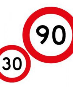 30 90 speed limit signs