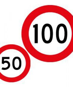 50 100 speed limit signs