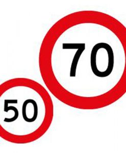 50 70 speed limit signs