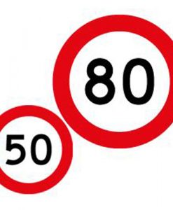 50 80 speed limit signs