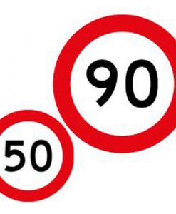 50 90 speed limit signs