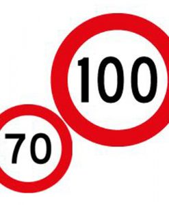 70 100 speed limit signs