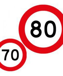 70 80 speed limit signs
