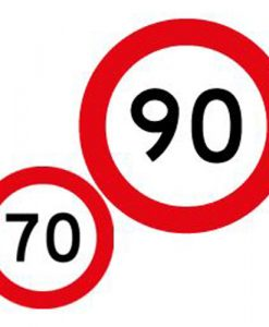 70 90 speed limit signs