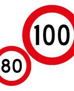 80 100 speed limit sign
