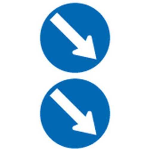 Double Arrow keep right sign